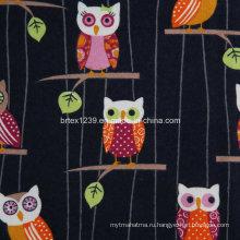 100% хлопчатобумажная фланелевая ткань для пижамы с животной печатью (C20X10 / 40X42)