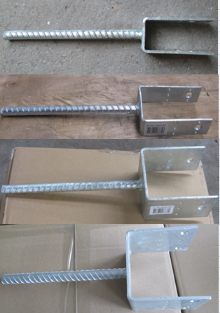 Galvanized column shoe type U