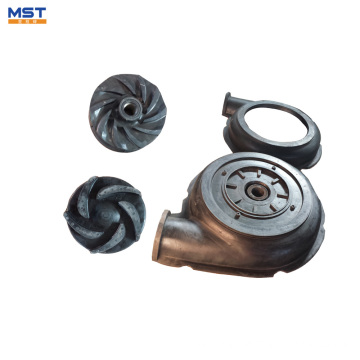 Centrifugal slurry pump parts rubber impeller