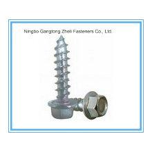 ISO7053 Hex-Unterlegscheiben-Kopf-selbstschneidende Schraube