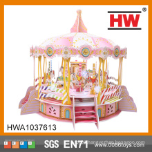 3D B/O Puzzle With Light And Music 103PCS Toy Carousel