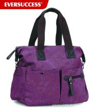 Fourre-tout d'épaule de poche de toile de toile texturée de femmes, sac à main de mode de toile (HCSD0002)