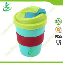 Coupe de café promotionnelle abordable à 8 Oz sans BPA avec couvercle