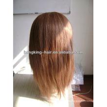 peluca de encaje de cabello humano marrón claro