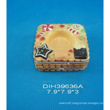 Christmas Decoration Ceramic Square Candle Stand