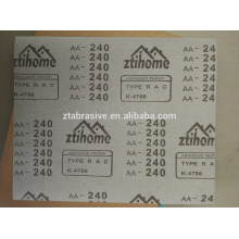 """9 """"* 11"""" Aluminiumoxid weiß blau Schleifpapier Anti-Clog trocken Schleifpapier kostenlose Probe"""