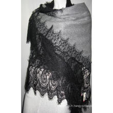 100% Cashmere Triangle Lace Trim