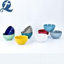 Venta al por mayor de fábrica de venta directa de cerámica de gres de colores conjunto de tazón de cerámica