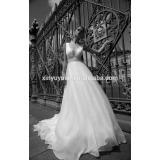 China cheaper wedding dress 2016 sexy off shoulder lace cover back A line wedding dress DM-070 vestido de noiva wedding dresses