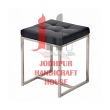 Cushioned Metal Stool