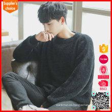 Nuevos suéteres de cachemira negro o cuello suéter de cachemir tejido patrón
