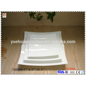 YH8480 hot sale two compartment ceramic plate