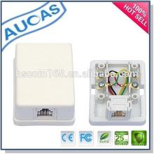 2 puertos RJ45 modular superficie de jack / caja de distribución caja de conexiones / keystone jack modular jack