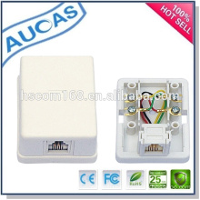 2 port RJ45 modular surface jack / distribution box junction box / keystone jack modular jack