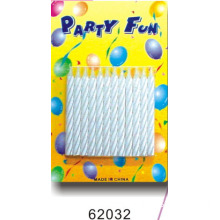 Solid white birthday candles, 24 candles in a blister card