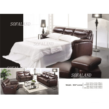 Italy Leather Sofa Bed (652)