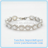 Alibaba Wholesale Fashion Tennis Bracelet with Rhodium Plated CZ Diamond