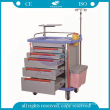 New condition ce abs material with iv pole hospital cart trolley
