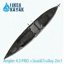 Roto Molding LLDPE / HDPE Motor Kayak Disponible para liberar las manos con el asiento suave (incluyendo el carro)