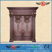 JK-RC9201 porte d'entrée de luxe en cuivre