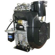 20HP 15kw Air Cooled Two Cylinder Diesel Engine