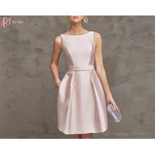 2017 Latest Off Shoulder Pink And Royal Blue Skirts Knee Length Robe De Soiree Evening Dress Short
