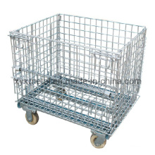 Metal Garage Logistics Outils à rouleaux Steel Storage Wire Mesh Cage