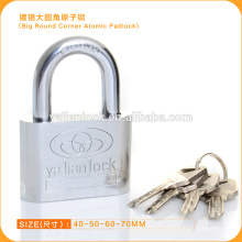 Wholesale Nickle Plated Atomic Iron Padlock