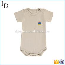 Sleepsuit curto de bambu da luva do bebê quente bodysuit Eco-amigável da venda