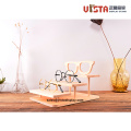 Countertop+Solid+Wooden+Glasses++Display+Stand