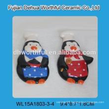 2016 Decorative penguin chef design ceramic fridge Magnets