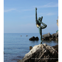 Modern design ballet dancer sculpture bronze