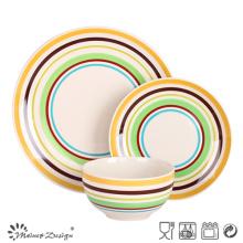 12pcs en céramique peint à la main dîner ensemble contact alimentaire
