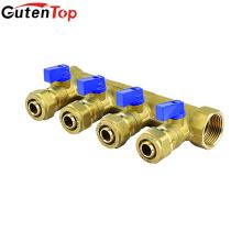 LB Guten top 4 way manifold with 4 brass ball valve 1/2 brass water knockout drum