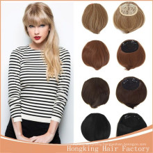 New arrival hot selling popular clip in human hair fringe cheap