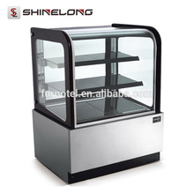 R151 Floor Standing 3 Layers Refrigerated Deli Showcase