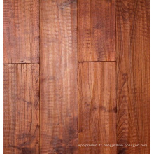 Sols anciens en bois massif de robinier chinois en teck huilé