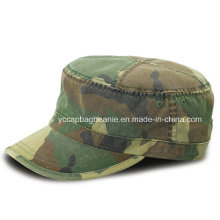 Fashion Men Camo Pecilal Fabric Military Army Cap