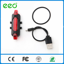 wholesale New Bike 6 Mode High Brightness Red LED USB Rechargeable Bicycle light