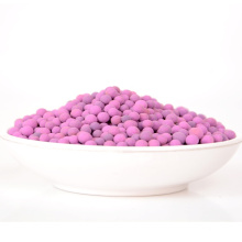Chinese Factory 3-5mm Purple Sphere KMnO4 Activated Alumina Ball For Sale