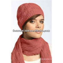 women wool scarf hat suit in winter