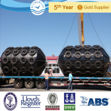 Cylindrical type Protection equipment dock EVA foam filled fenders marine mooring buoys