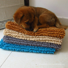 anti-dérapant microfibre shaggy tapis de chien en caoutchouc