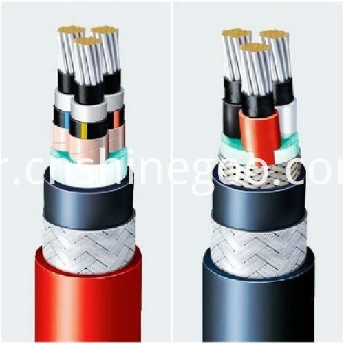 Fluoroplastics electrical cable