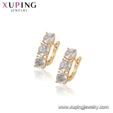 96902 xuping moda brincos de argola de diamante de simulação para as mulheres
