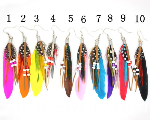 Bohemian Ethnic Feather Earrings