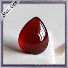 Lágrima gota granate puro rojo granate natural para la joyería de moda