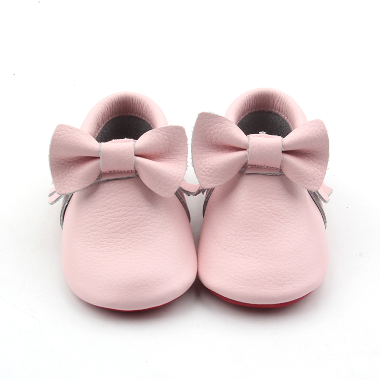 Soft Leather Baby Tassel Shoes newborn