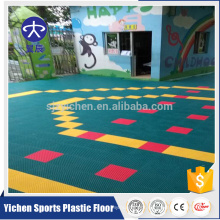 Kindergarten outdoor suspend floor healthy pp interlocking tiles