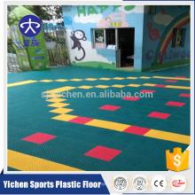 Kindergarten outdoor suspend floor healthy pp interlocking tiles